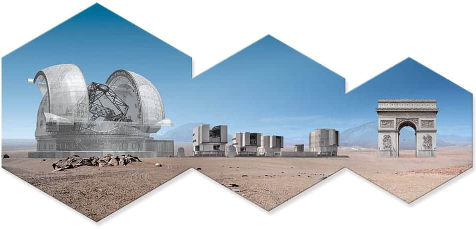 Extremely Large Telescope Größenverhältnis