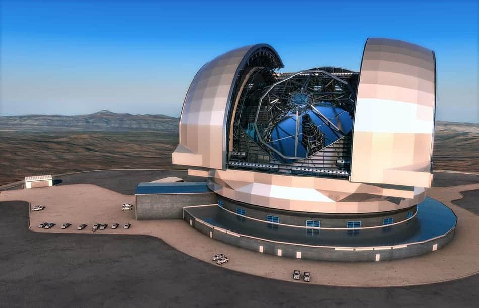 Extremely Large Telescope Künstlerdarstellung