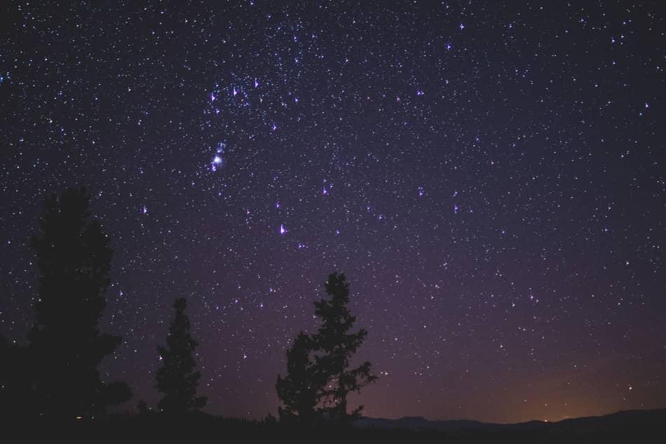 astronomische Beobachtungsnacht